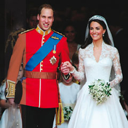 Royal Wedding dress with Cluny Lace inserts